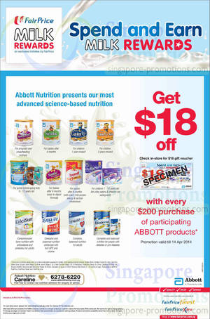 List of Abbott Nutrition related Sales, Deals, Promotions