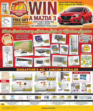 Featured image for Gain City 33rd Anniversary Promos, Marina Square Roadshow & Other Offers 29 Mar 2014