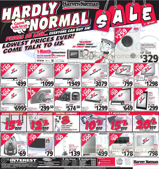 Featured image for Harvey Norman Digital Cameras, Furniture, Notebooks & Appliances Offers 22 - 28 Mar 2014