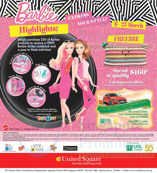Barbie Highlights, Freebie, UOL Group 50th Anniversary Draw