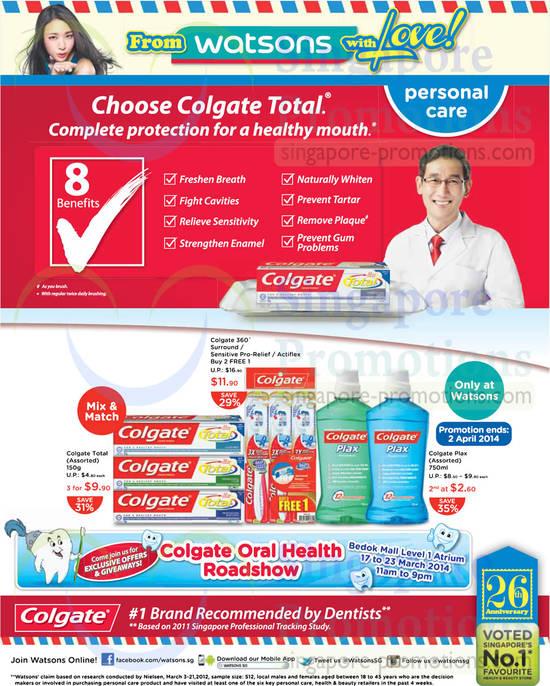 Colgate Products, 360, Total, Plex