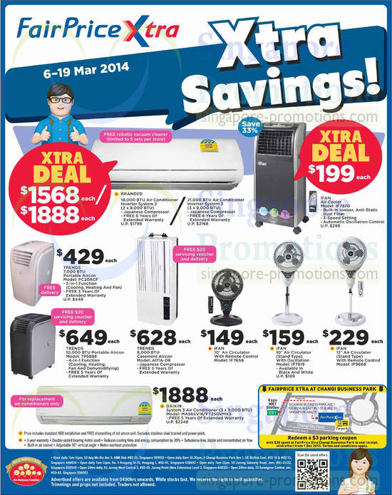 Featured image for NTUC Cooling Appliances, Up To 25% OFF Health Products & Other Offers 6 - 19 Mar 2014