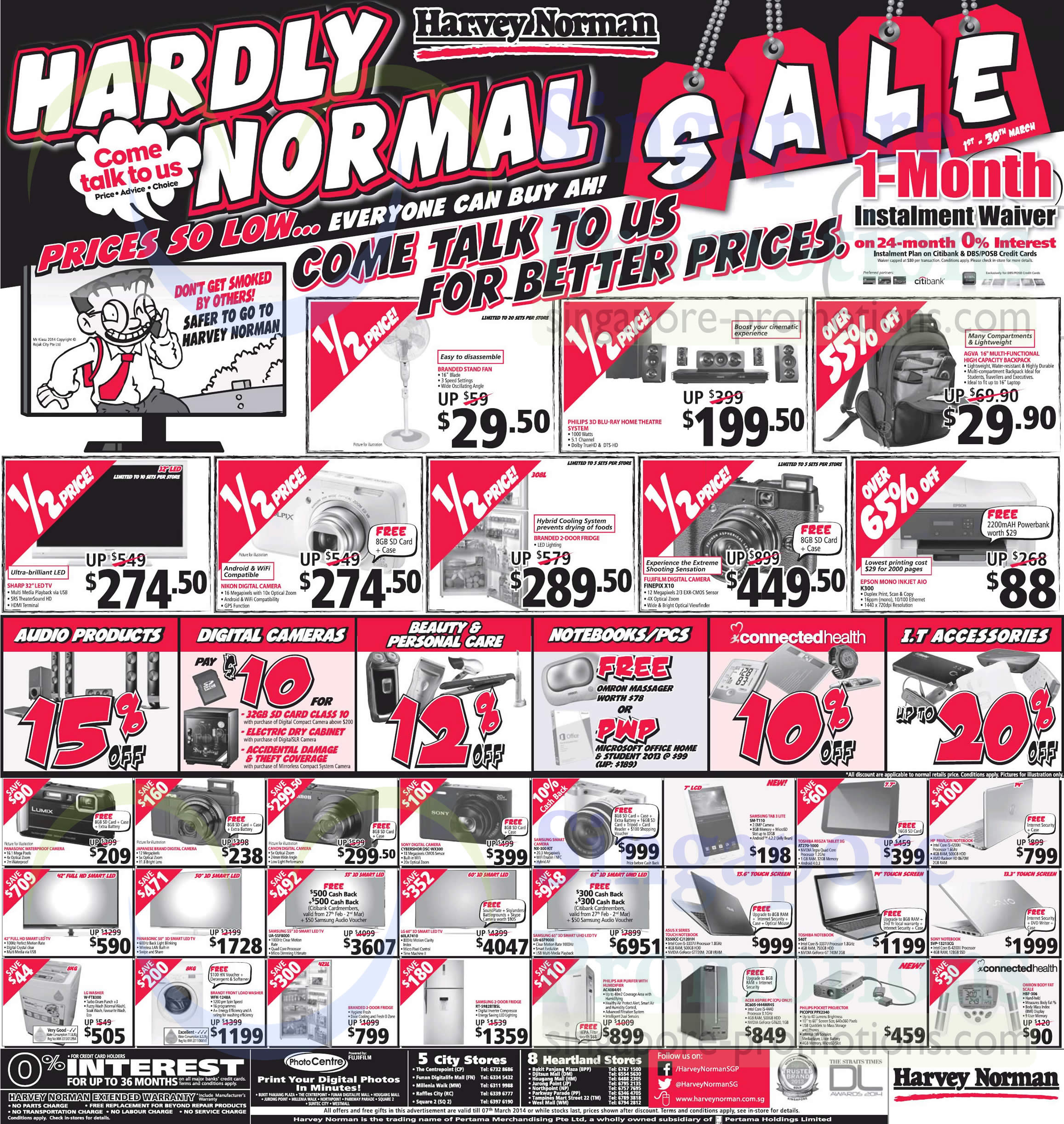 Featured image for Harvey Norman Electronics, Furniture, Bedding & Other Offers 1 - 7 Mar 2014