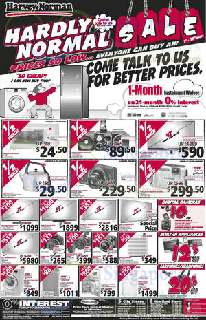 Featured image for Harvey Norman Digital Cameras, Furniture, Notebooks & Appliances Offers 8 – 14 Mar 2014