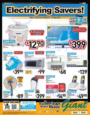 Featured image for Giant Electronics Offers 28 Mar – 11 May 2014