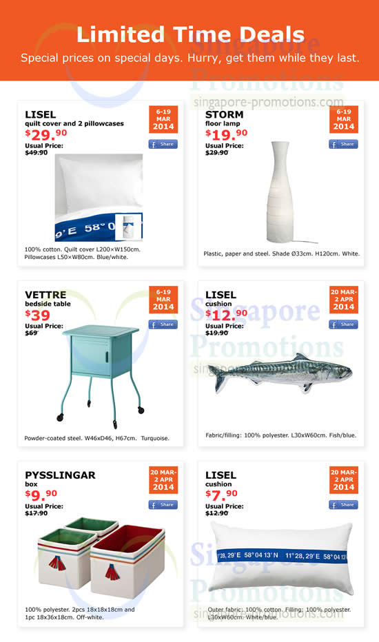 Ikea Limited Time Deals Discounted Promo Offers 6 Mar 2