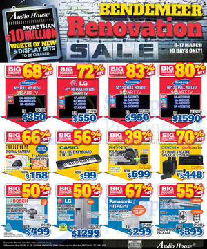 Featured image for Audio House Bendemeer Renovation Sale Offers 8 – 17 Mar 2014