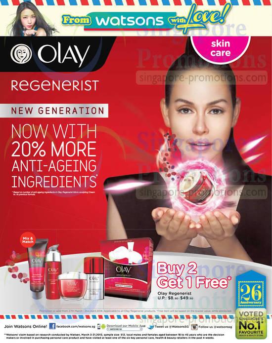 Olay Regenerist Buy 2 Get 1 Free