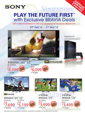 Featured image for Sony Audio Visual Offers @ Islandwide 27 Feb – 2 Mar 2014