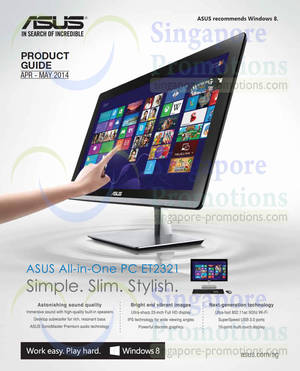 Featured image for Asus Desktop PCs, Monitors, Networking & Other Accessories Offers 30 Mar – 31 May 2014
