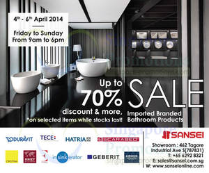 Featured image for Sansei Up To 70% OFF SALE 4 – 6 Apr 2014