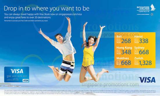 Singapore Airlines Visa Promotion Air Fares 1 17 Apr 2014