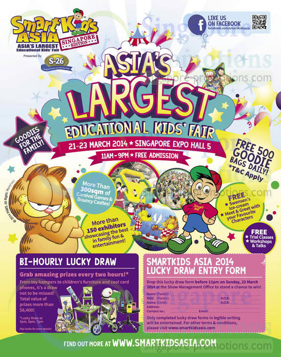 SmartKids Asia Event Venue, Dates, Lucky Draw