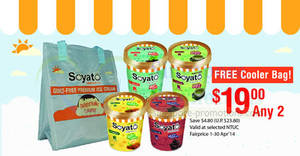 Featured image for Soyato $19 For Two Pints Ice Cream @ NTUC FairPrice 1 – 30 Apr 2014