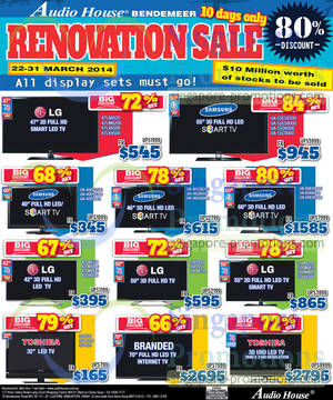 Featured image for Audio House Electronics, TV & Appliances Offers @ Bendemeer 22 – 31 Mar 2014