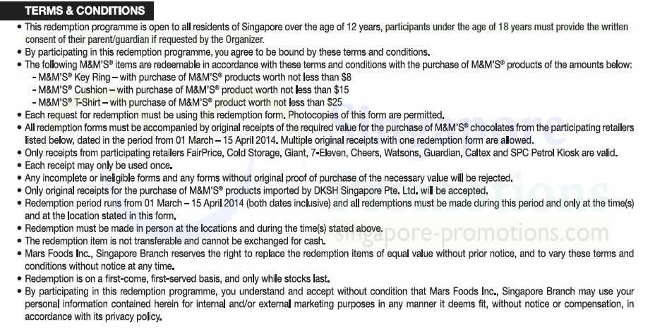 Citibank Online Sign In >> Terms n Conditions » M&M's FREE Gift(s) With Minimum $8 Purchase 7 Mar – 15 Apr 2014 ...