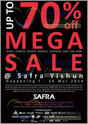 Featured image for WeSC Up To 70% OFF Mega SALE @ Safra Yishun 7 – 16 Mar 2014