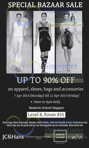 Featured image for Branded Bazaar SALE Up To 90% OFF @ Mandarin Orchard 7 – 11 Apr 2014