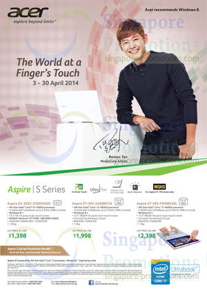 Featured image for Acer Notebooks, Desktop PCs, Tablets & Monitors Price List Offers 3 – 30 Apr 2014
