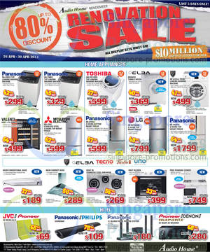 Featured image for Audio House Electronics, TV & Appliances Offers @ Bendemeer 26 – 30 Apr 2014