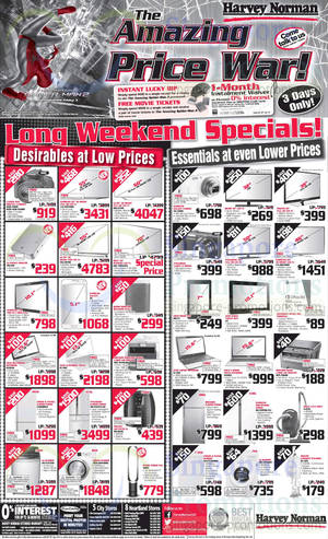 Featured image for Harvey Norman TVs, Notebooks, IT Gadgets & Appliances Offers 18 – 20 Apr 2014