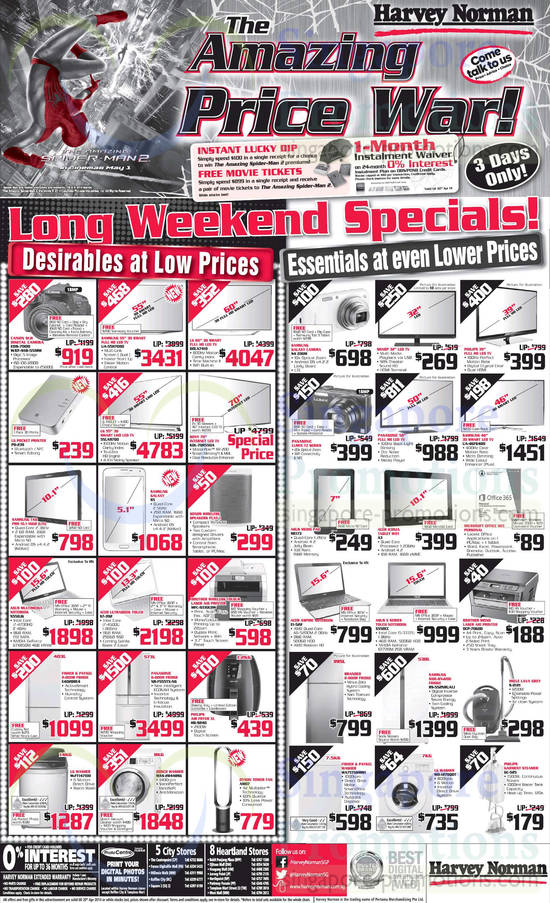 Featured image for Harvey Norman TVs, Notebooks, IT Gadgets & Appliances Offers 18 - 20 Apr 2014