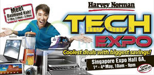 Featured image for Harvey Norman Tech Expo @ Singapore Expo 1 – 4 May 2014