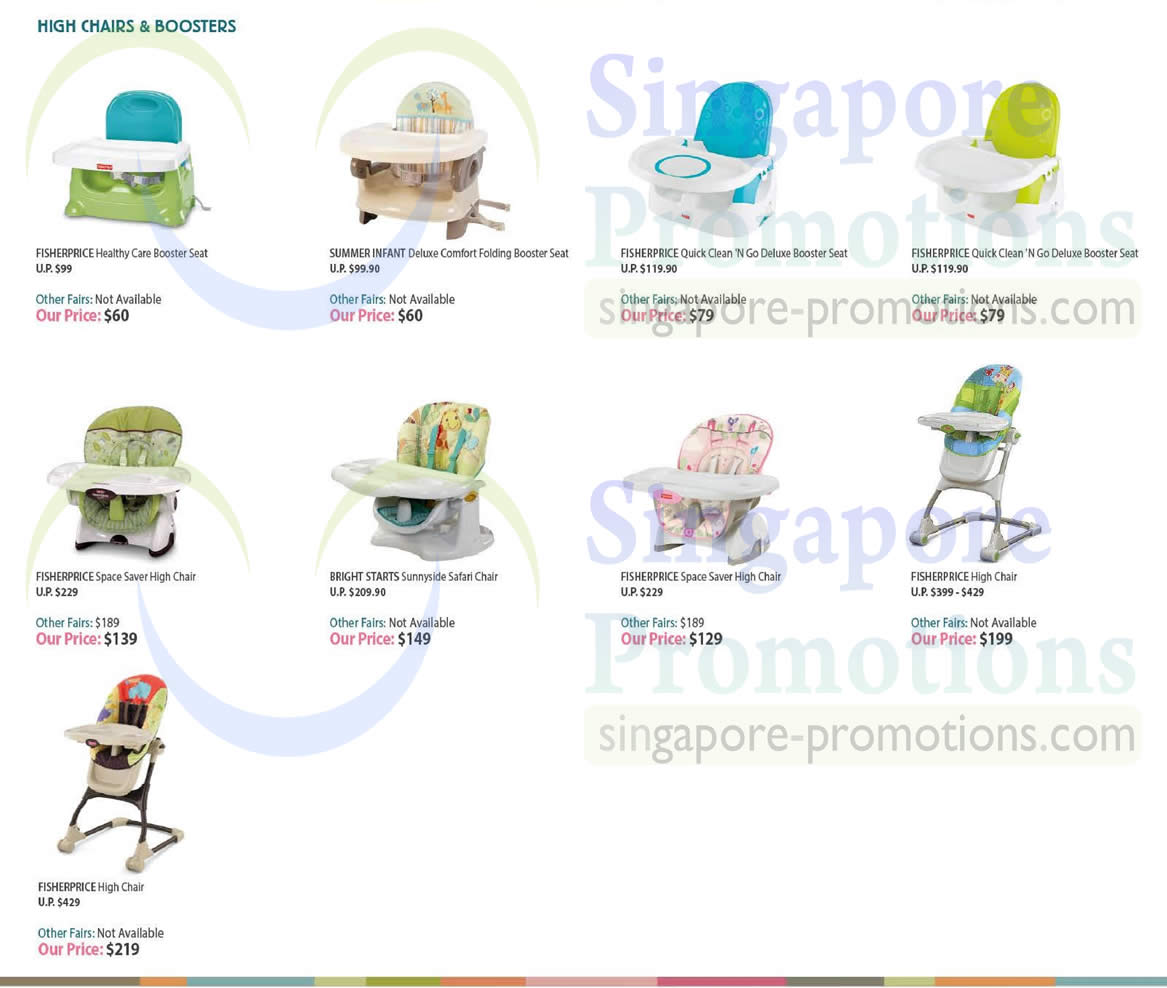 Fisher Price Healthy Care Deluxe Booster Seatfisher Blue Seat High Chairs N Boosters 187 Baby Expo Fair Singapore 9