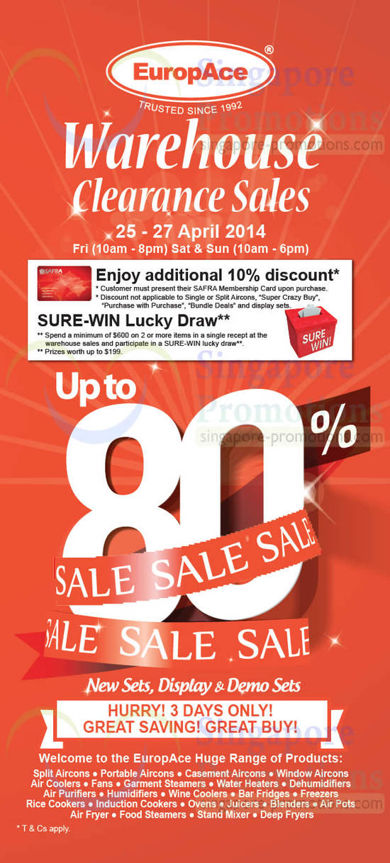 Lucky Draw, 10 Percent Discount, Sale Details