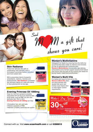 Featured image for Ocean Health 30% Off Mother's Day Promo 28 Apr – 11 May 2014