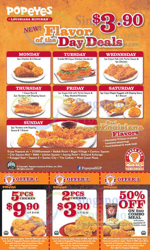 Popeyes Chicken Specials On Wednesday. Koko November 28, Printable Coupons for a Popeyes near You. 12 Popeyes Specials for November Catering Chicken Menu Packages. Verified. The choice of either spicy or mild gives everybody a chance to get crispy fried chicken flavored the way they like it.