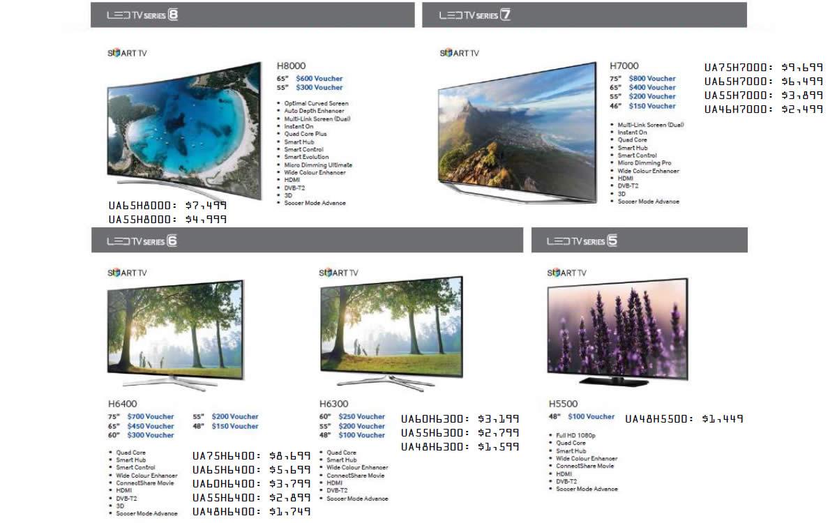 Price List H8000, H7000, H6400, H6300, H5500