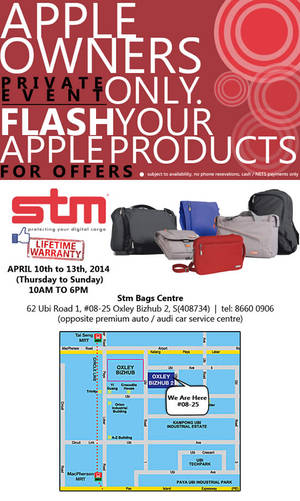 Featured image for STM Bags Private Promo For Apple Owners 10 – 13 Apr 2014