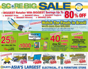 Featured image for Courts Score Big Sale Offers 12 – 13 Apr 2014