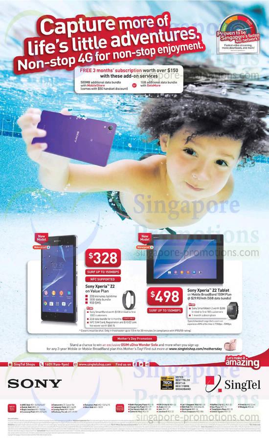 Sony Xperia Z2, Z2 Tablet