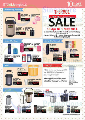 Featured image for Isetan Great Living SALE Thermos, WMF & More Offers 18 Apr – 8 May 2014