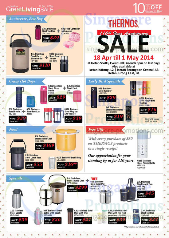 Featured image for Isetan Great Living SALE Thermos, WMF & More Offers 18 Apr - 8 May 2014
