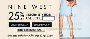 Zalora 25% OFF Nine West Products Coupon Code 19 – 20 Apr 2014