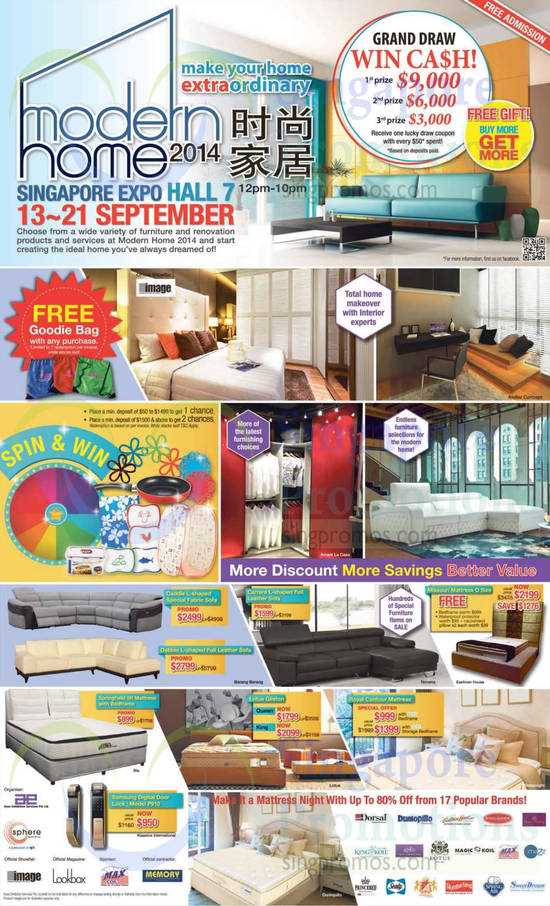 12 Sep Grand Draw, Spin n Win, Sofa Sets, Mattresses, Participating Brands
