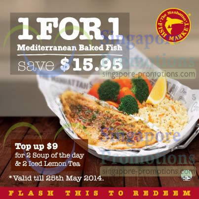15.95 1 for 1 Mediterranean Baked Fish