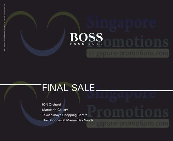 20 Jun Hugo Boss Final Sale