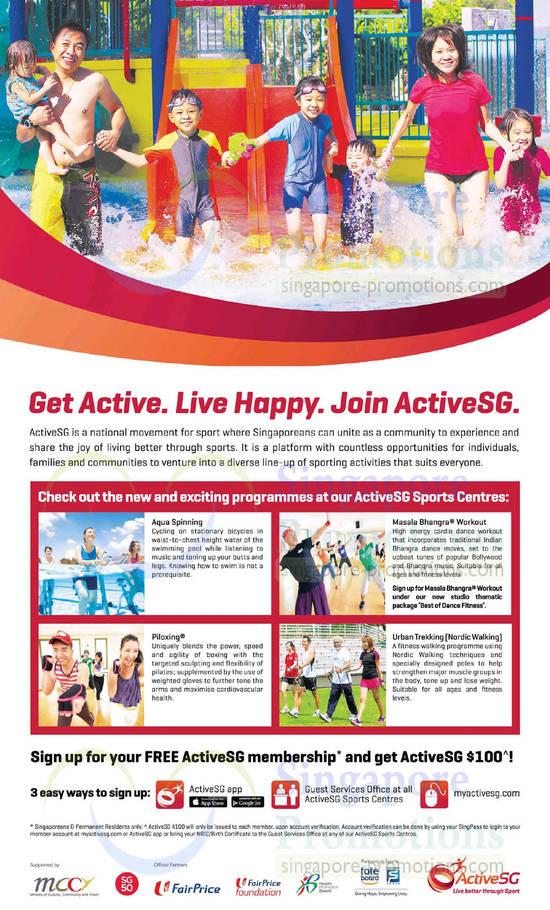 6 Jun New n Exciting Programmes at ActiveSG Sports Centres