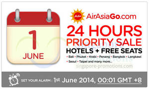 Featured image for Air Asia Go Hotels + FREE Flights Packages 24Hrs Priority Promo 1 Jun 2014