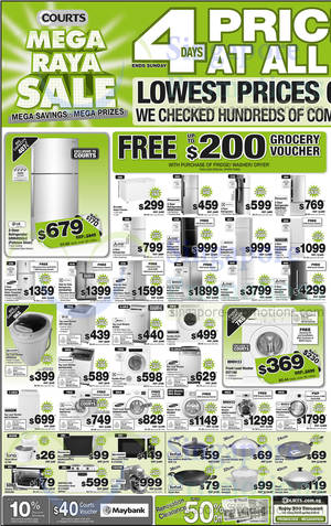 Featured image for Courts Mega Raya Sale Offers 29 May – 1 Jun 2014