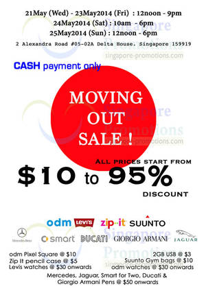 Featured image for Aquila Brands Moving Out SALE @ Delta House 21 – 25 May 2014