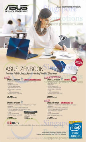 Featured image for Asus Zenbook Offers 21 May 2014