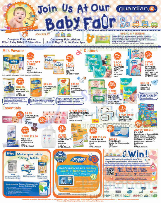 Baby Fair Diapers, Milk Powders, Creams, Wipes, Desitin, Dumex, Abbott, Pampers, Huggies, Bossomi