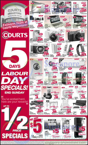 Featured image for Courts 5 Days Labour Day Special Sale 1 – 4 May 2014