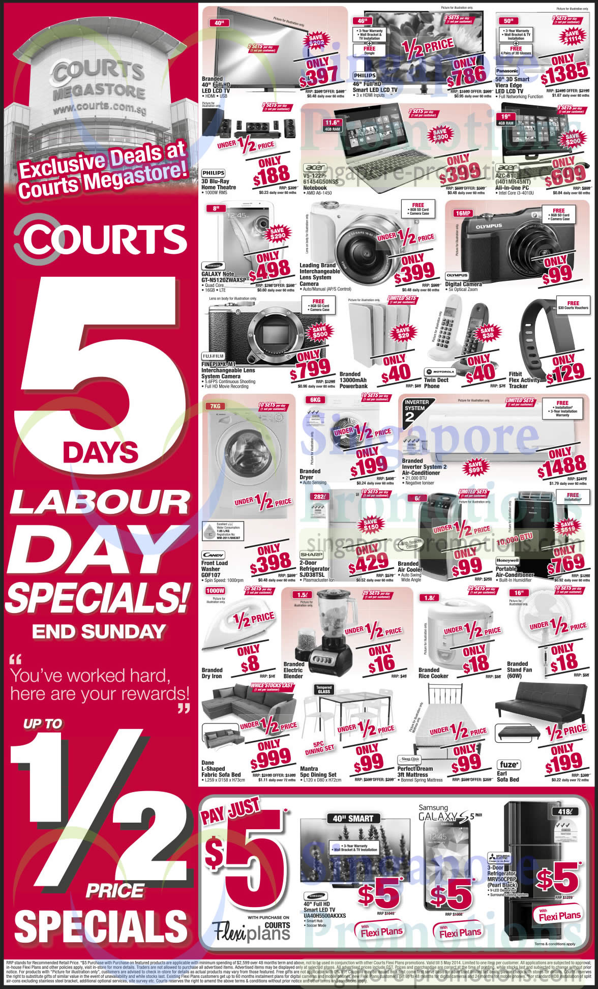 Featured image for Courts 5 Days Labour Day Special Sale 1 - 4 May 2014