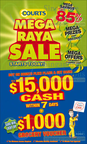 Featured image for Courts Mega Raya Sale Offers 24 – 25 May 2014